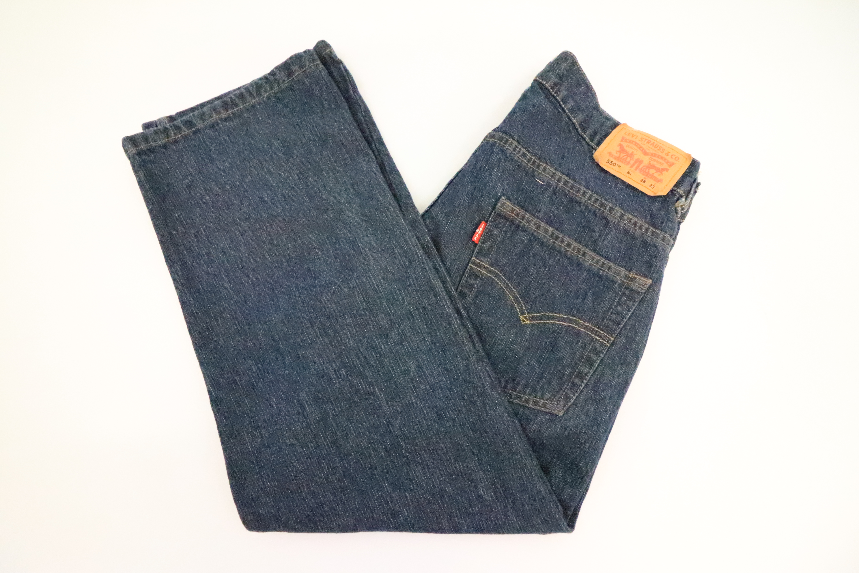 9f5801c3ff2578 Levis 550 Relaxed Tapered Fit Boys Dark Wash Jeans Size 8 Husky 28 x 23