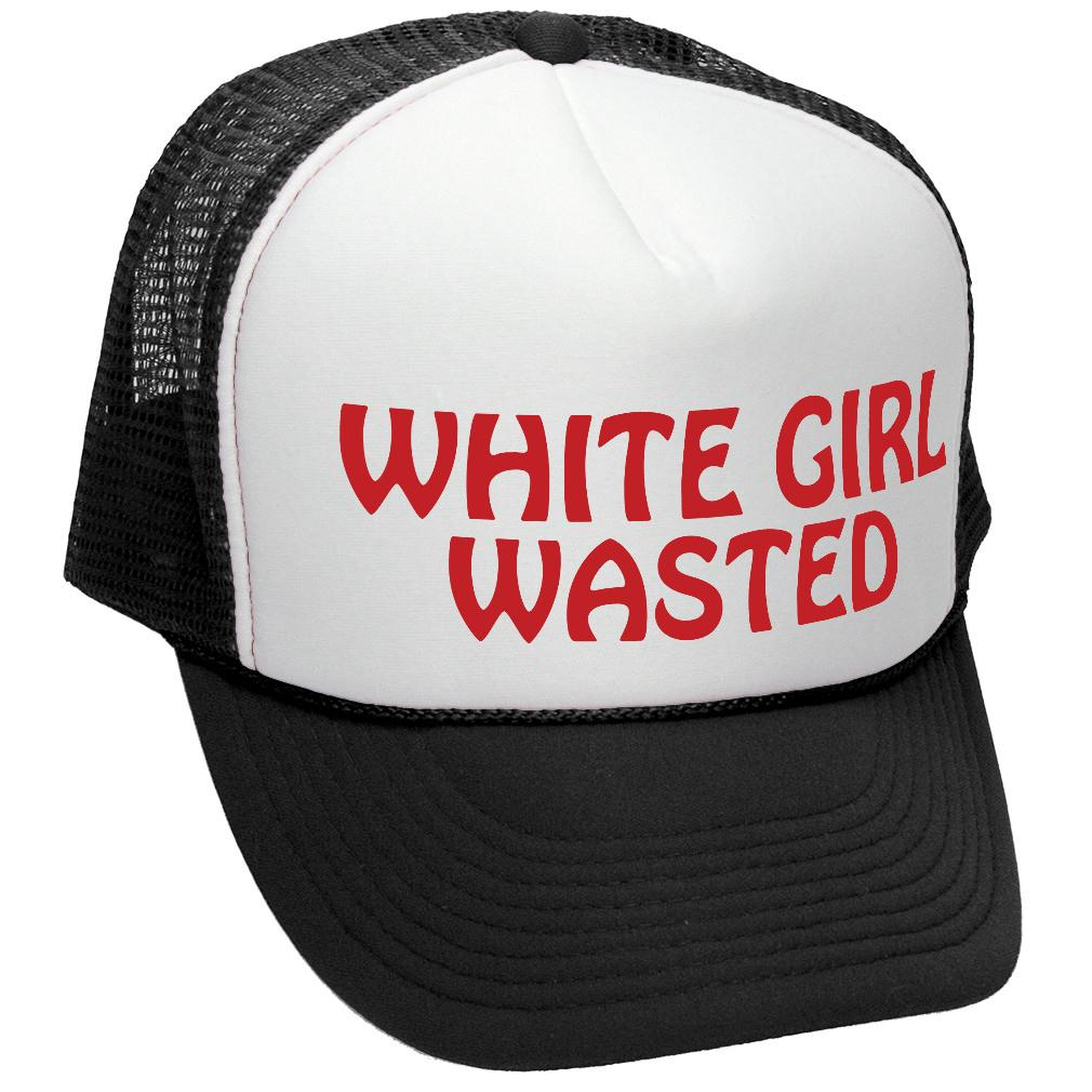 Details about WHITE GIRL WASTED - funny party dance frat college - Mesh Trucker  Hat Cap 88432ac64502