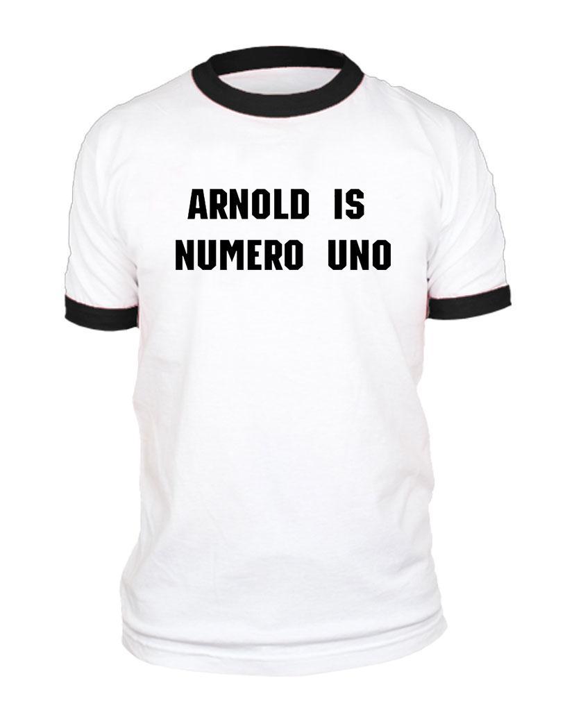 ShirtEbay Numero Style Ringer Arnold Uno Unisex Retro Is Cotton T qMSUzVp