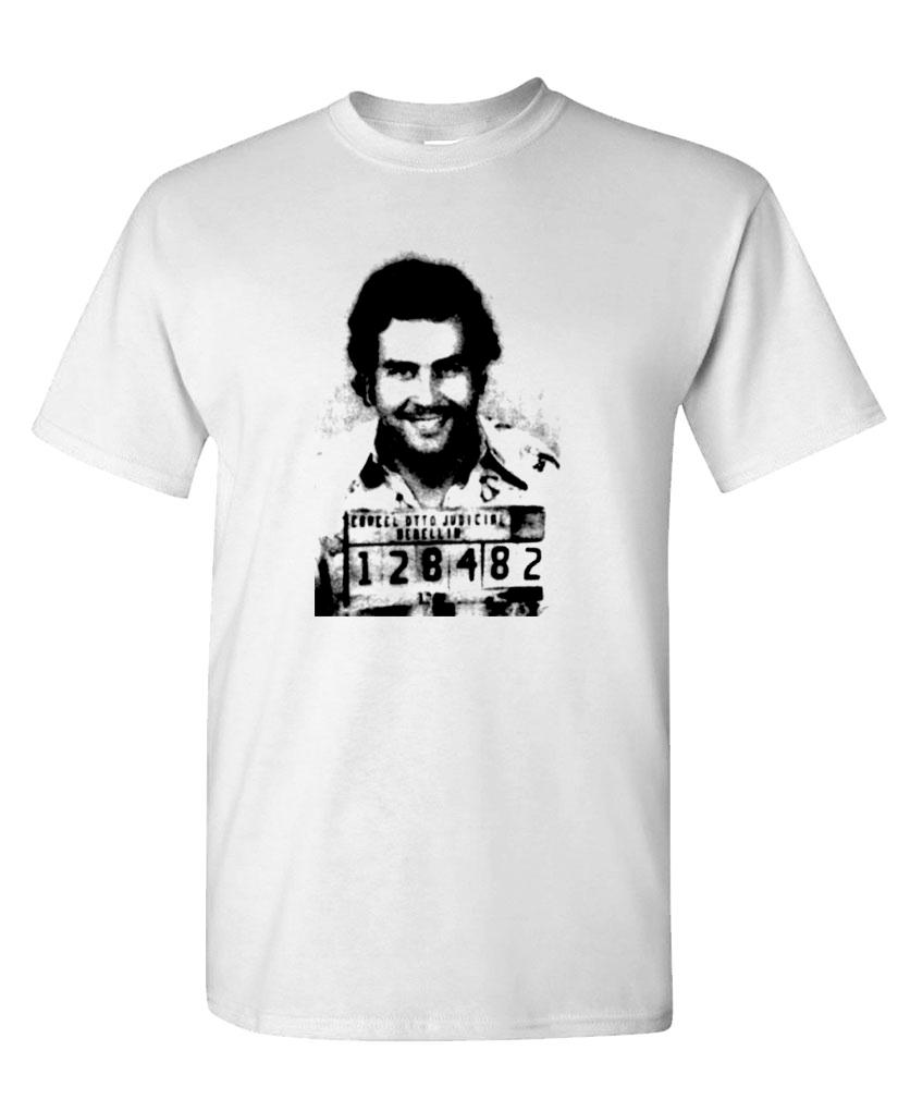 100/% Columbian Mens Holiday T Shirt Escobar Cocaine Drugs Gangster Printed Tee