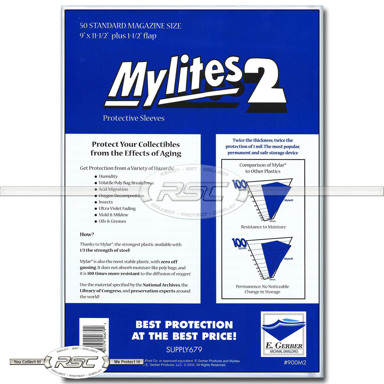 E GERBER FULL-BACK /& MYLITES 2 STANDARD MAGAZINE Mylar Bags 858FB//900M2 50