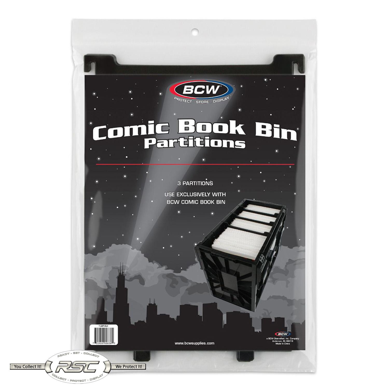 Black Plastic Dividers Lot of 30 BCW Comic Book Storage Bin Partitions