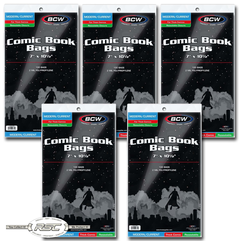 200 BCW REGULAR Backing Boards /& THICK 2-Mil Polypropylene Comic Book Bags!