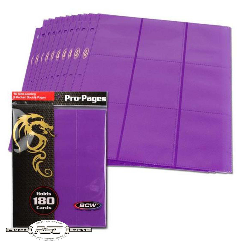Ultimate Guard 18-Pocket pages side-loading red-tarjetas fundas 9-Pocket
