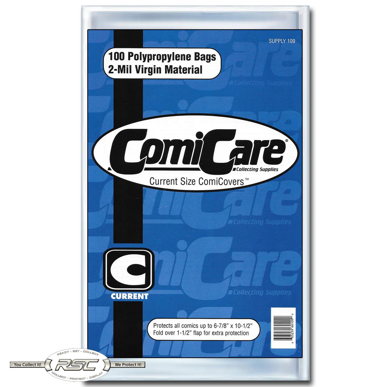 "200 8-3//4/"" x 11/"" ComiCare MAGAZINE 2-Mil Polypropylene Comic Bags"