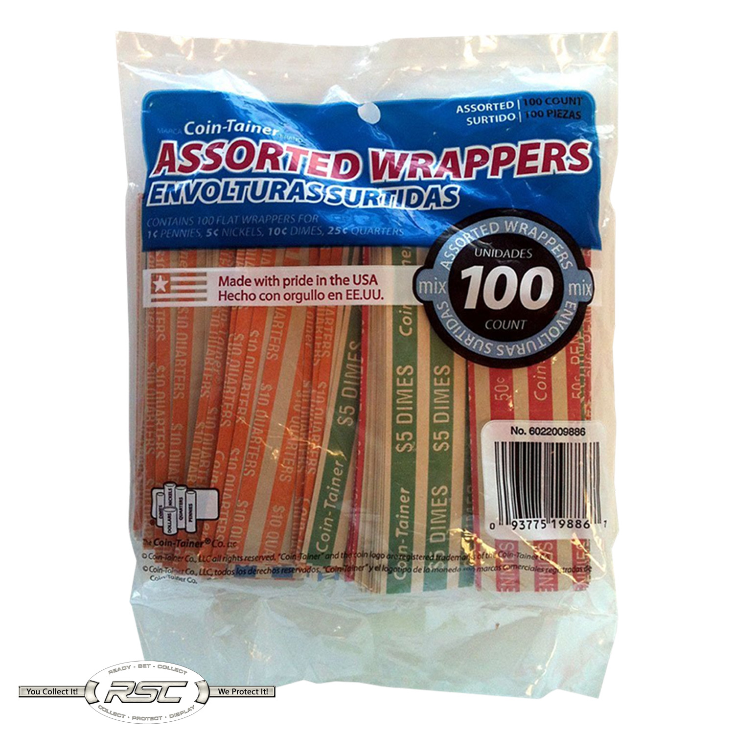Coin Wrappers Lot of 100! CENT Penny Vintage Style Solid RED