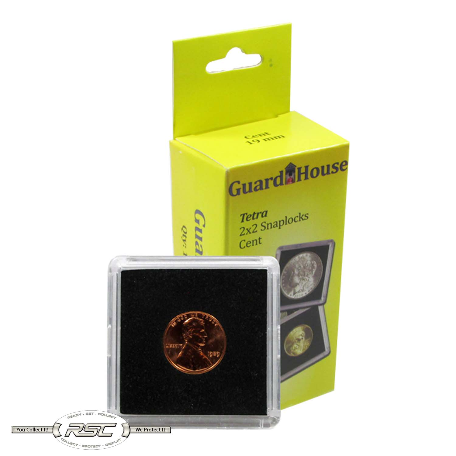Guardhouse 2x2 Tetra Snaplocks Coin Holders for 1-Oz Copper /& Silver Rounds 10