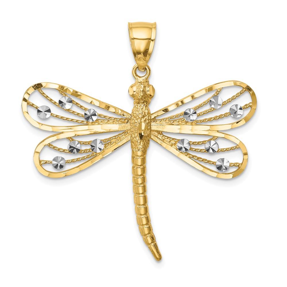 16 mm Jewels Obsession 14K White Gold #1 Honey Saying Pendant