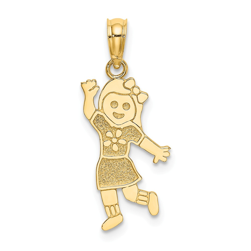14K-Girl-Charm miniature 1