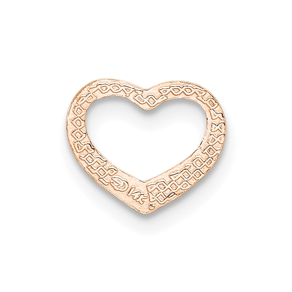 Lex /& Lu 14k White Gold .9mm Curb Pendant Chain Necklace