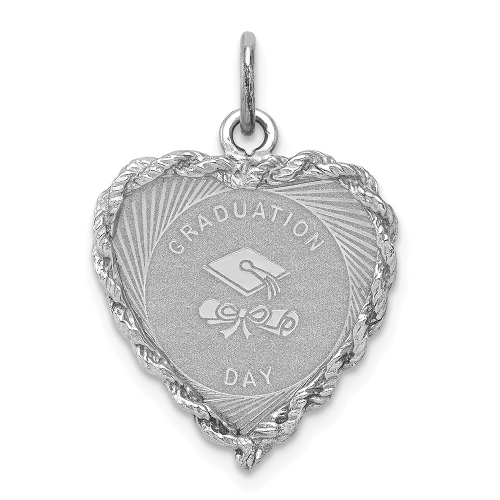 925 Sterling Silver Rh 3 D Graduation Cap Lobster Clasp Pendant Charm Necklace Special Day Fine Jewelry Gifts For Women For Her