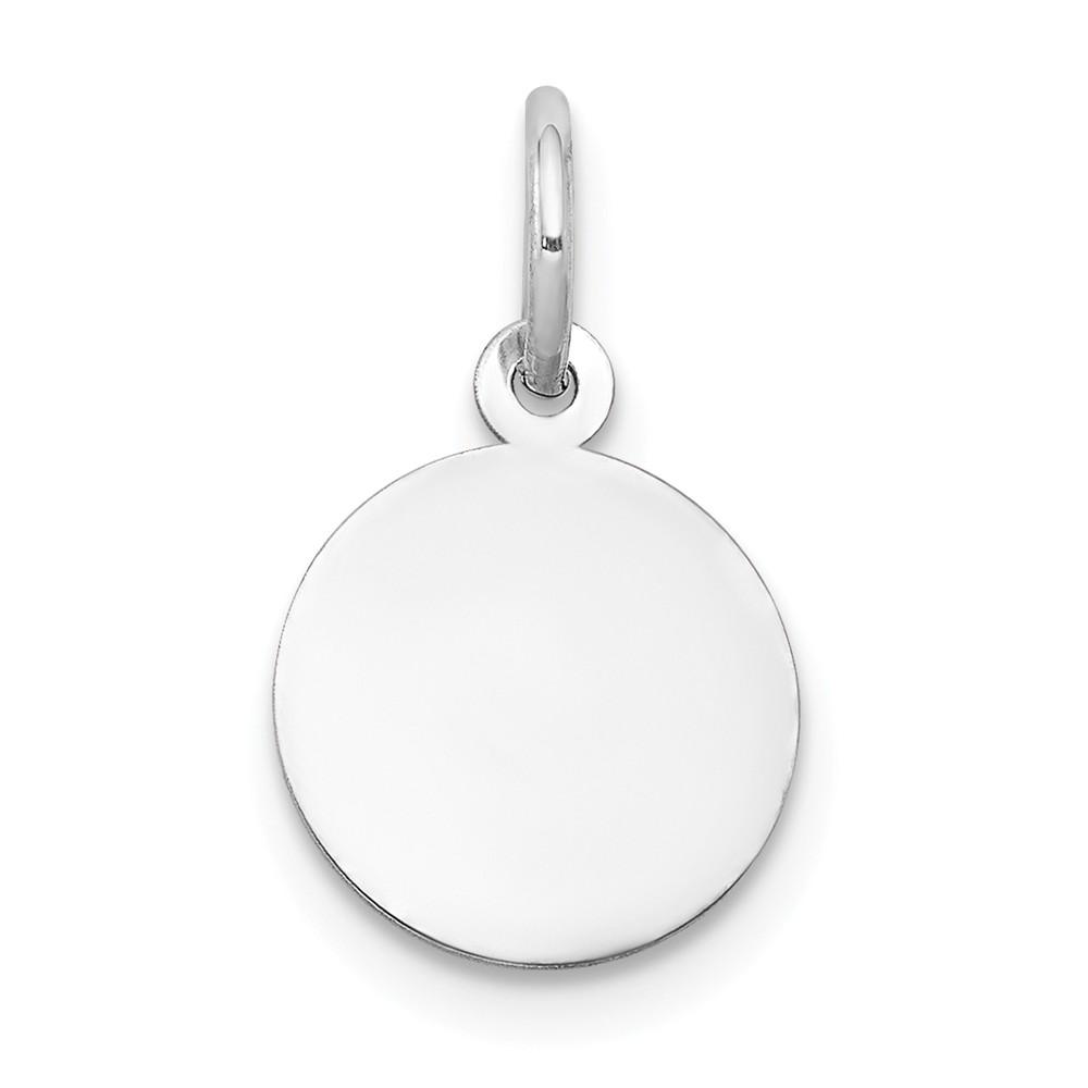 14k Rose Gold Plain .018 Gauge Circular Engravable Disc Charm Pendant