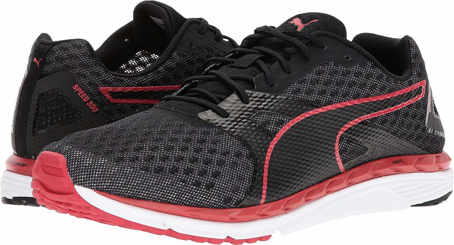 Puma 189945 01 Speed 300 Ignite Ignite Ignite 2 Black Quiet Shade Toreador Men's Running shoes fc99be