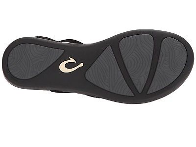 c26efd2e6385 Olukai 20343 4040 Kalapu Black Black Women s Sandals