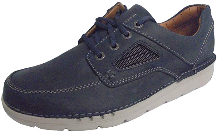 Clarks 26133317 Unnature Time Navy Leather Men's Casual shoes