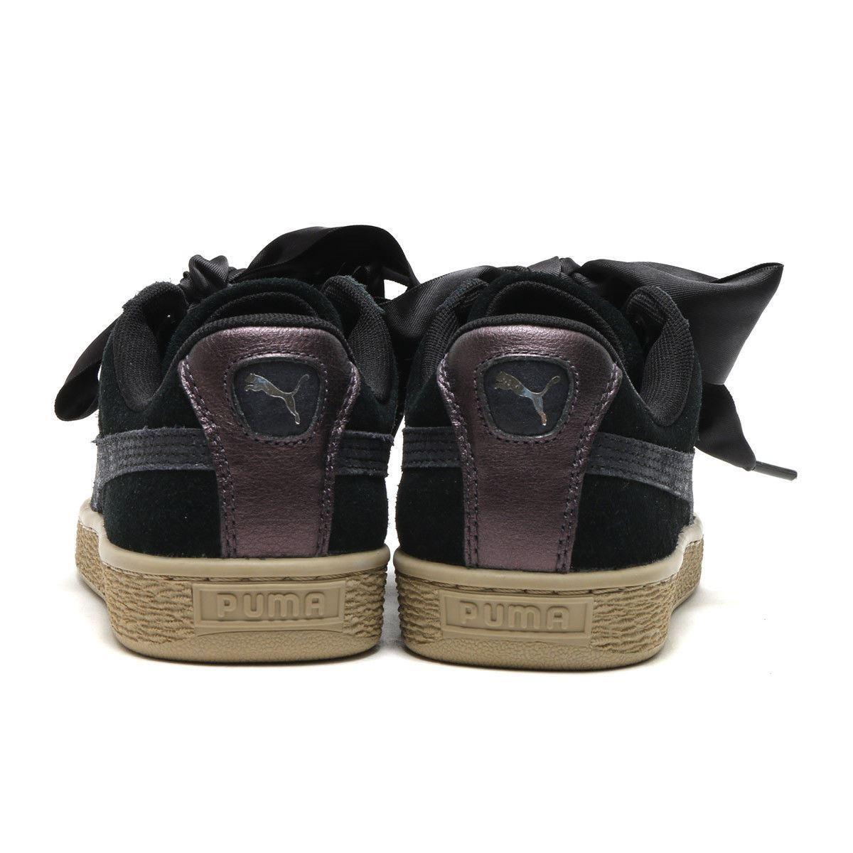 89c96e490d71b0 4 of 6 Puma 364083 03 Suede Heart Safari Black Women s Athletic Sneaker