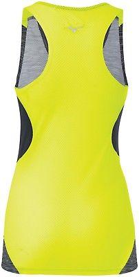 Mizuno-421658-9090-Aero-Black-Yellow-Women-039-s-Tank-Top miniatura 6