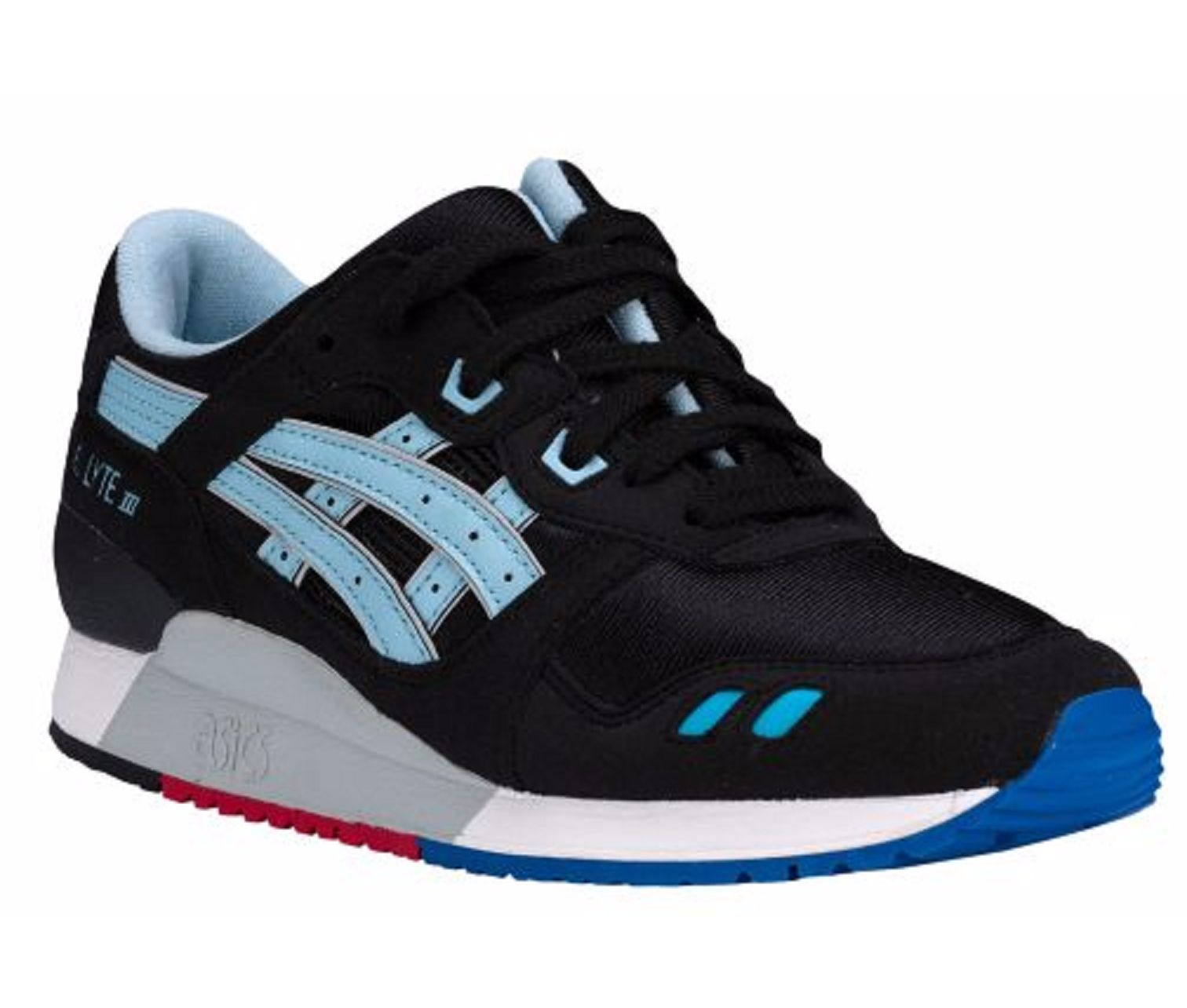 Asics C5A4N 9040 GEL Lyte III GS Retro Black Blue Big Kid Running ... e5a8acb2119