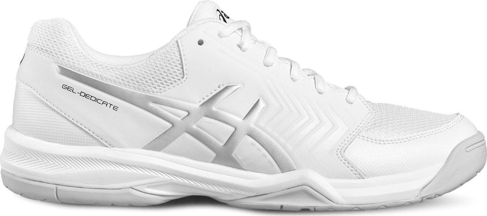 Asics E707Y 0193 Gel-Dedicate 5 White Silver Mens Tennis Sho