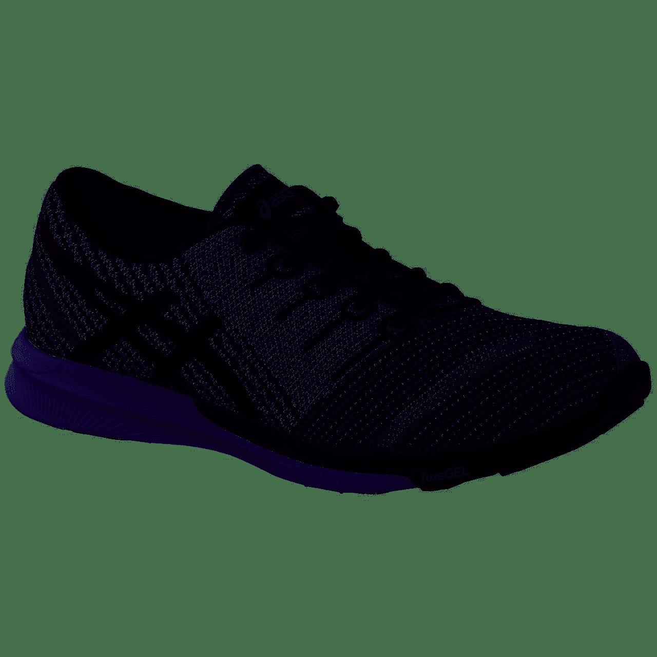 02d1f8771409 Asics T829N 9790 fuzeX Knit Carbon Black White Men s Running Shoes ...