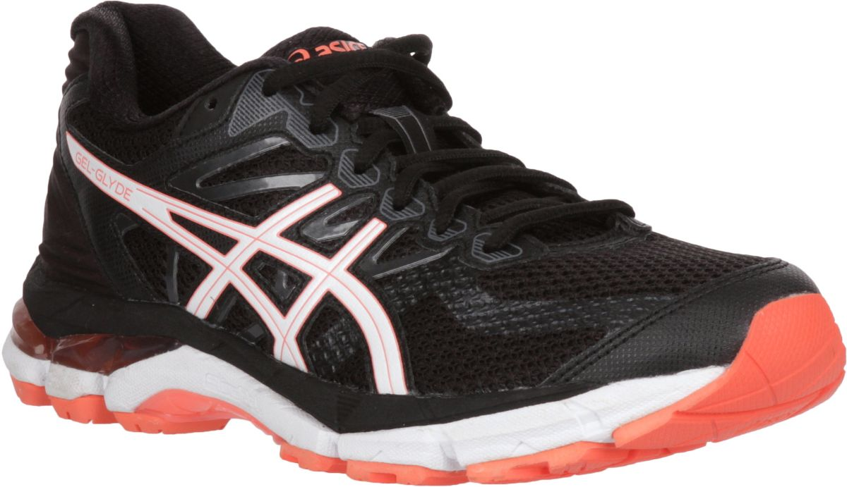 Details about Asics T894N 9001 Gel Glyde Black White Flash Coral Women's Running Shoes