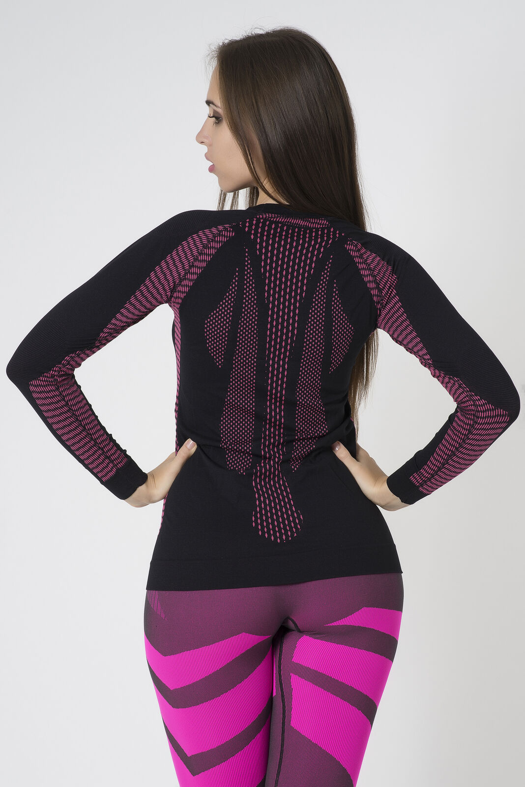 Bellissima-Women-039-s-Athletic-Compression-Long-Sleeve-Shirt-Moisture-Wicking-Top thumbnail 13