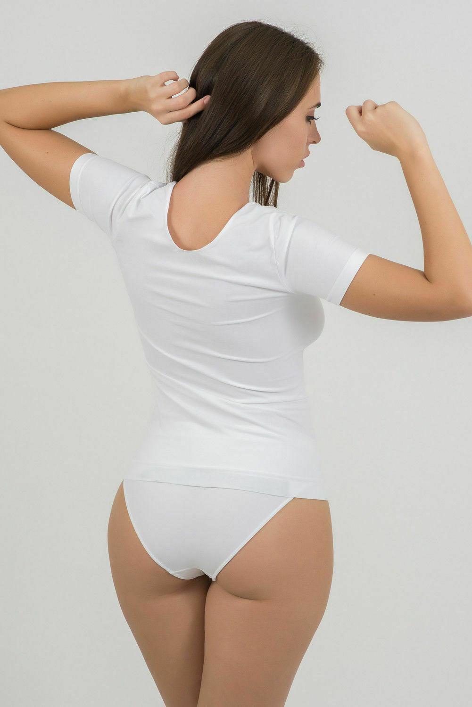 Bellissima-Women-039-s-Short-Sleeve-T-Shirt-Scoop-Neck-Stretch-Everyday-Tops thumbnail 8