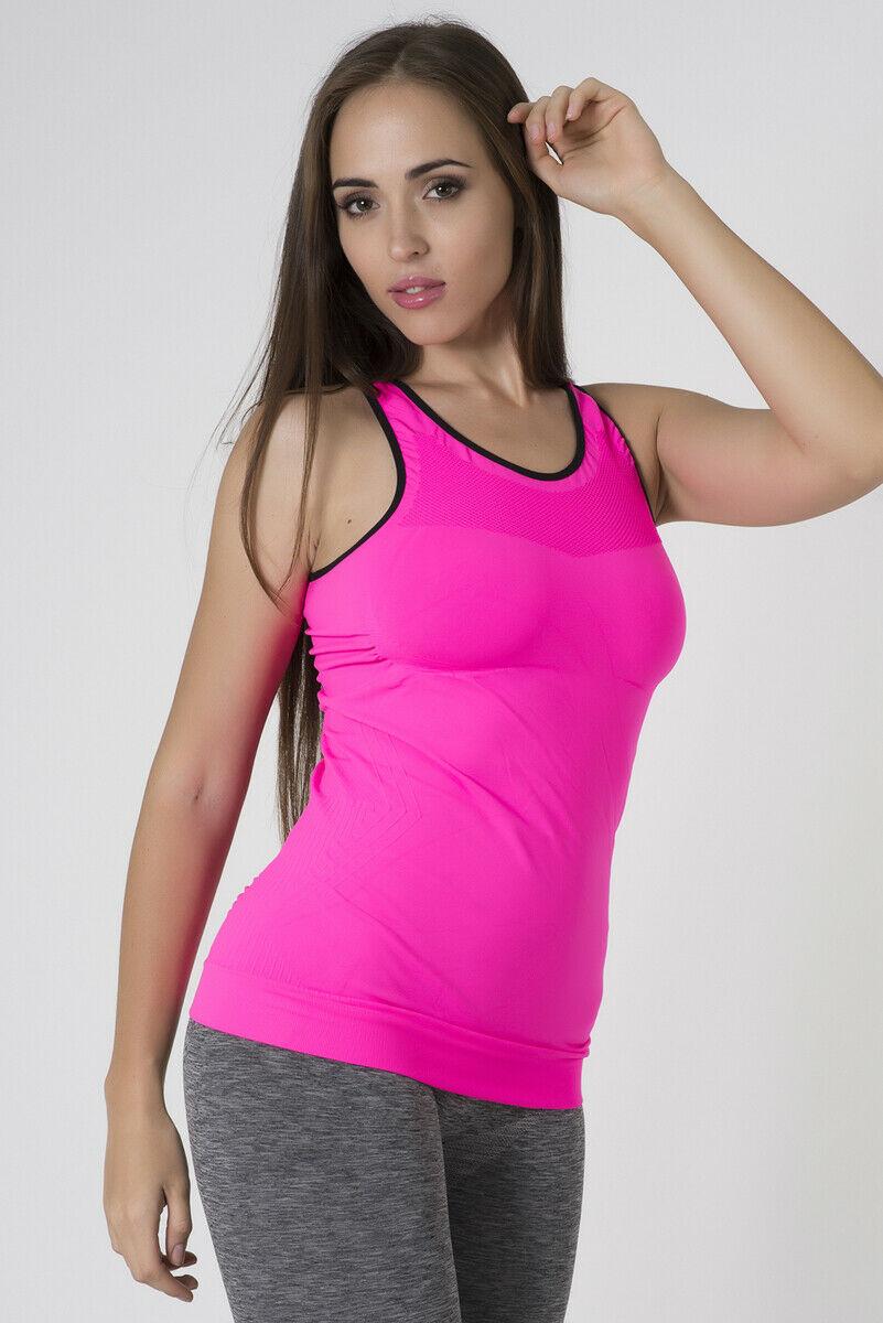 Bellissima-Women-039-s-Activewear-Tank-Top-Yoga-Running-Workout-Seamless-Sport-Tops thumbnail 26