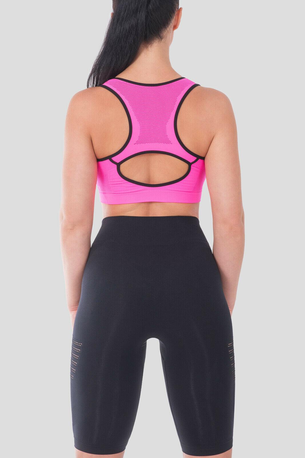 Bellissima-Women-039-s-Sport-Bra-Running-Yoga-Workout-Fitness-Racerback-Seamless thumbnail 40