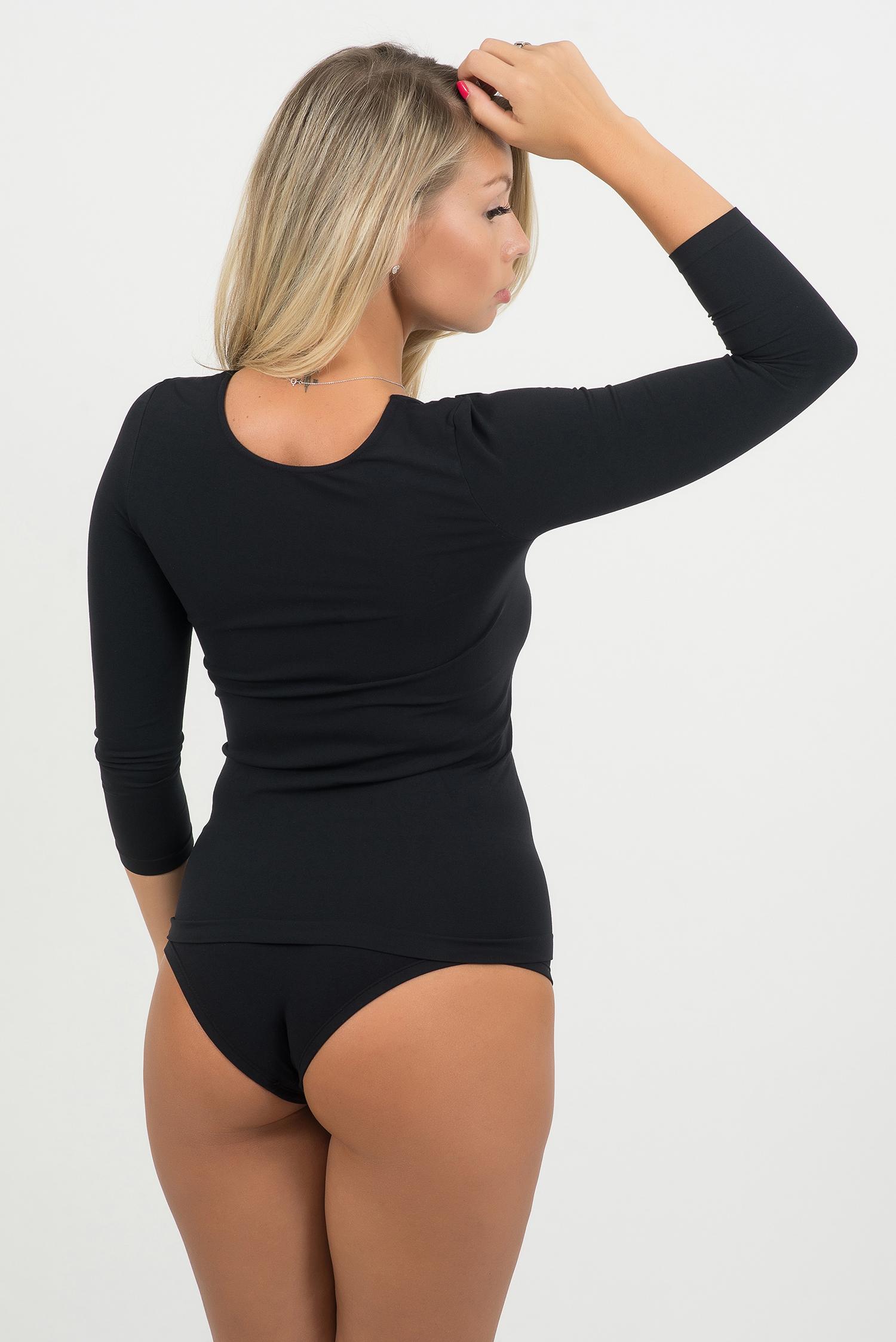 Bellissima-Women-039-s-3-4-Sleeve-Scoop-Neck-T-Shirt-Seamless-Stretch-Basic-Top thumbnail 10