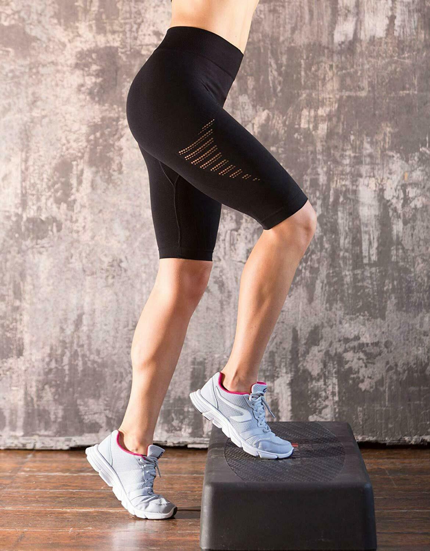Bellissima-Women-039-s-Compression-Sport-Yoga-Shorts-High-Waist-Workout-Running thumbnail 8
