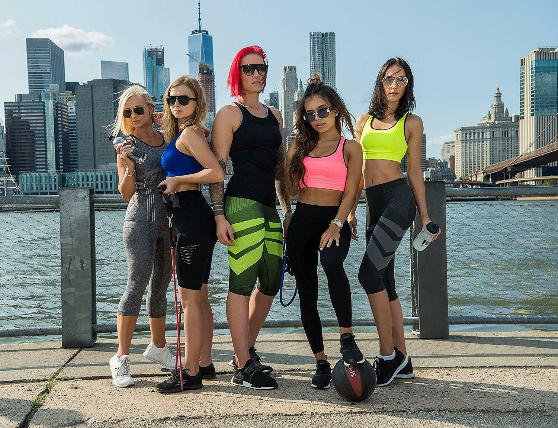 Bellissima-Women-039-s-Compression-Sport-Yoga-Shorts-High-Waist-Workout-Running thumbnail 12