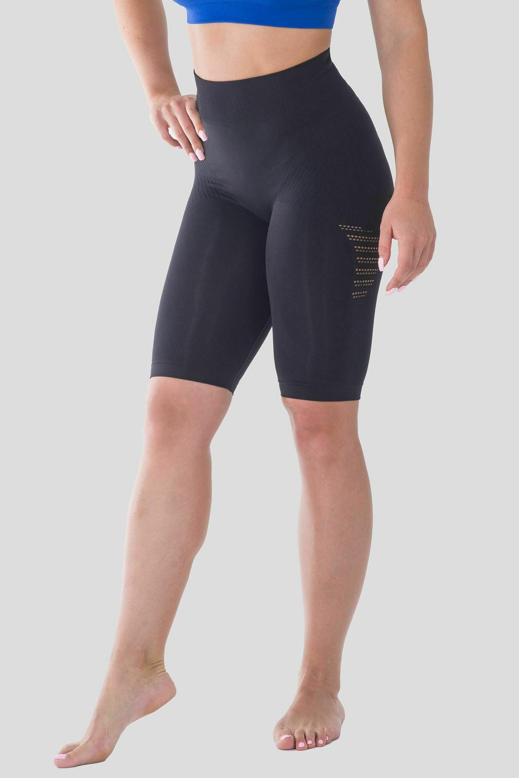 Bellissima-Women-039-s-Compression-Sport-Yoga-Shorts-High-Waist-Workout-Running thumbnail 10