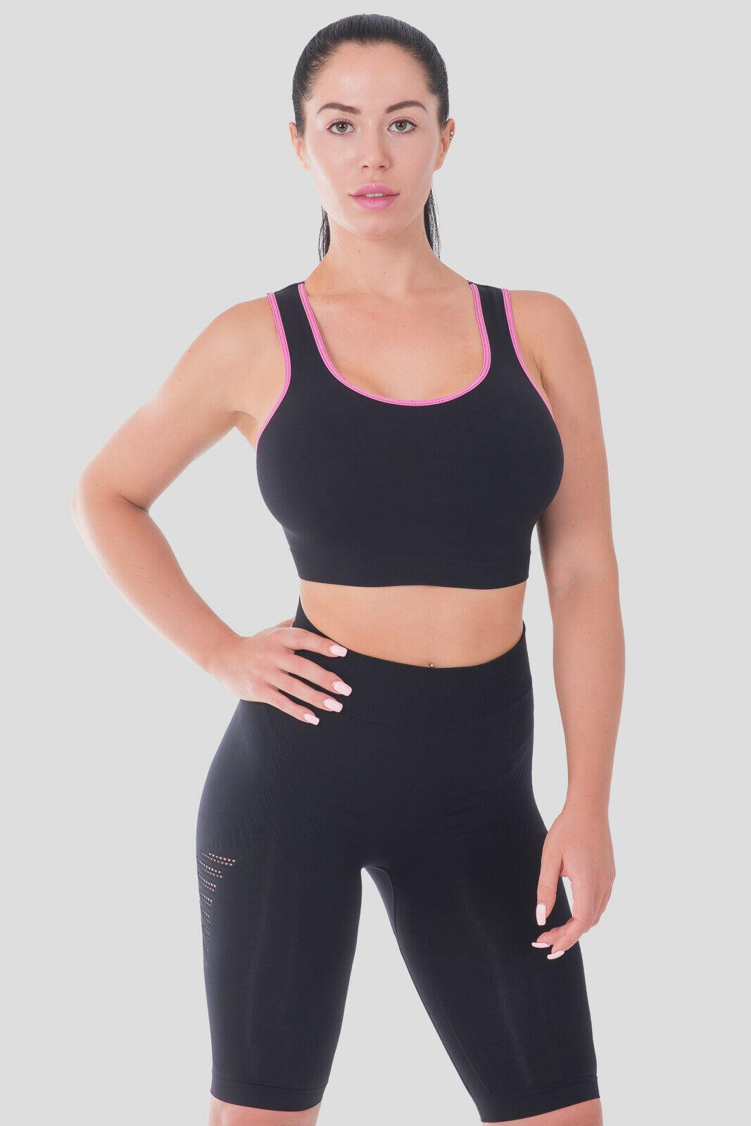Bellissima-Women-039-s-Sport-Bra-Running-Yoga-Workout-Fitness-Racerback-Seamless thumbnail 32