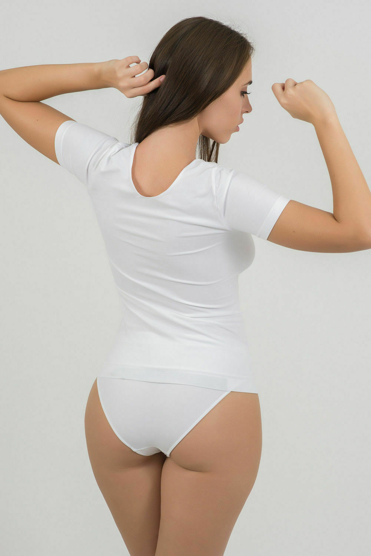 Bellissima-Women-039-s-Short-Sleeve-T-Shirt-Scoop-Neck-Stretch-Everyday-Tops thumbnail 14