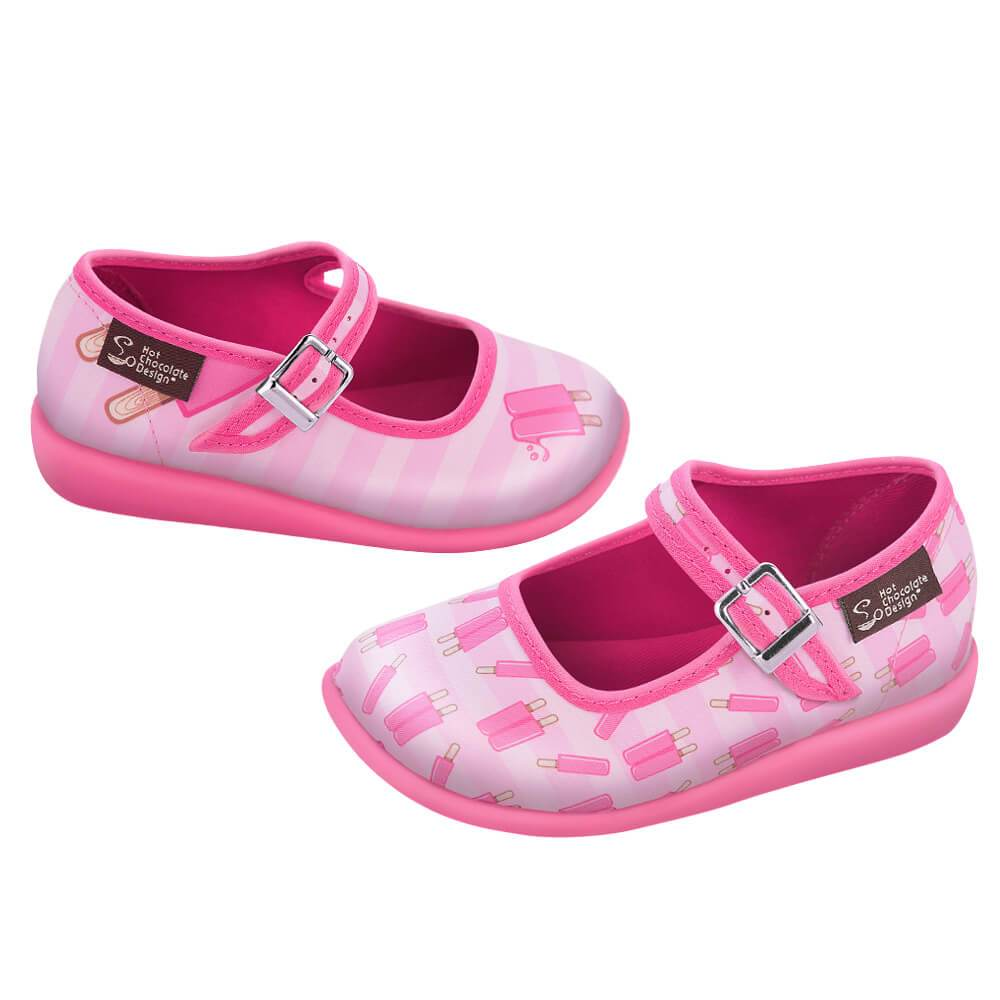 Hot Chocolate Design Girls Mary Jane Jane Jane Flat shoes Mini Chocolaticas Popsicle 564bc4