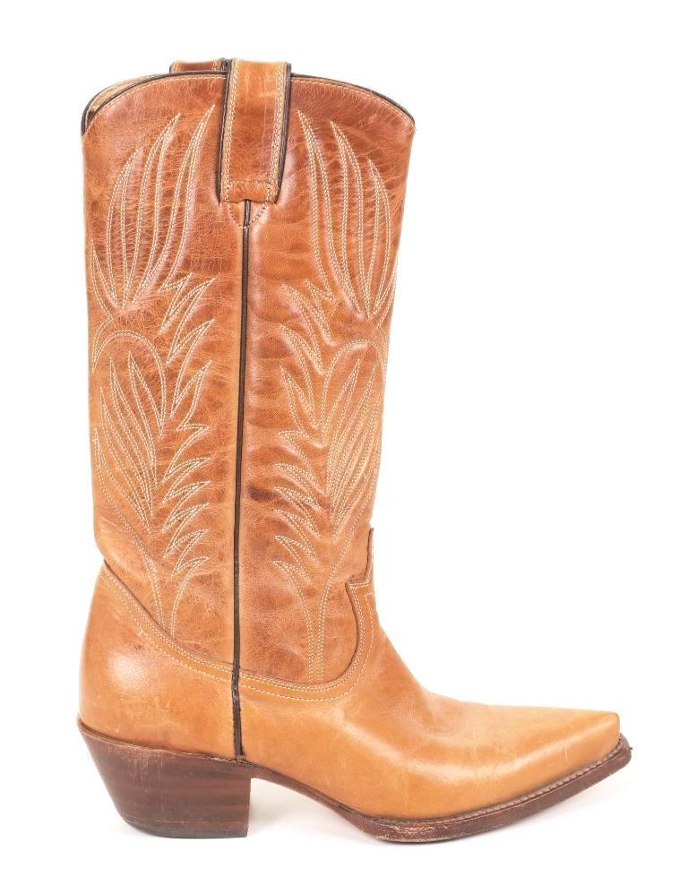 fbdde50ad2e Steve Madden Women's Tan Leather Cowboy Boots SZ 7.5 | eBay