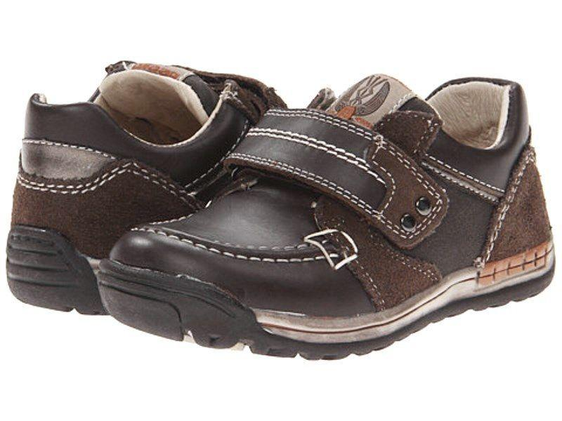 Beeko Elliot Boys Brown Leather Shoes