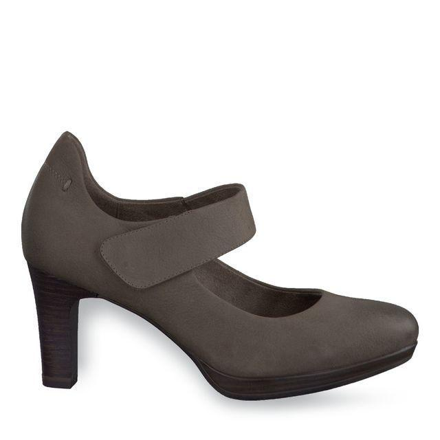 Details about Tamaris Zealot Womens Mary Jane Cigar Leather Heels