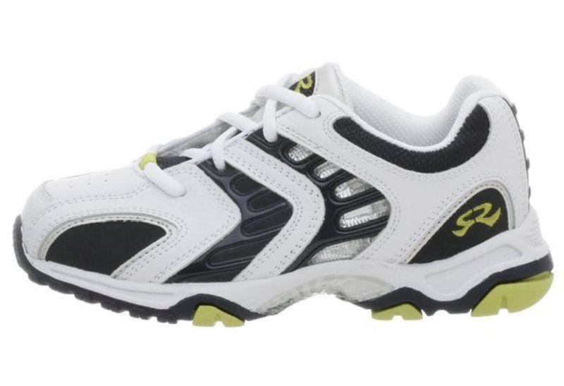 Stride Rite Asteriod Boys White Navy /& Lime Leather Sneakers