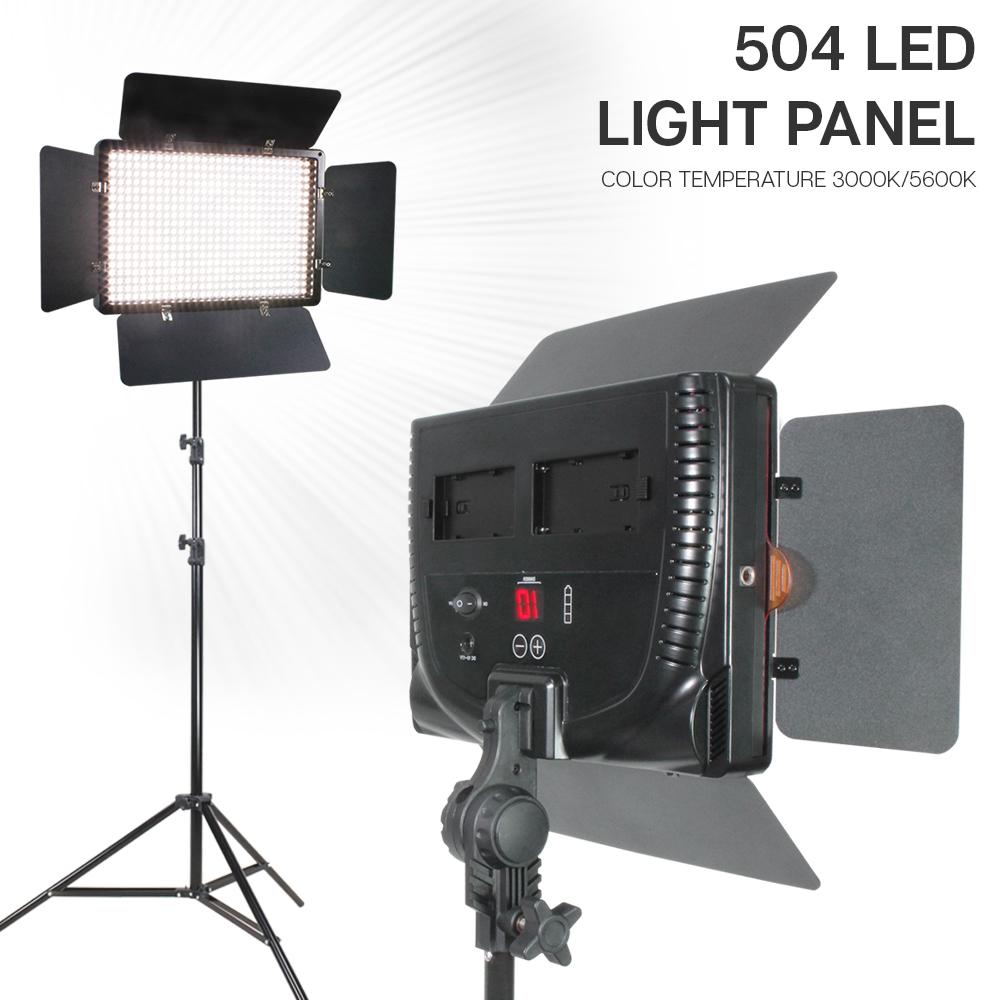 Details About 504 Led Lighting Kit Photography Studio Barn Door Light Panel 86 Light Stands