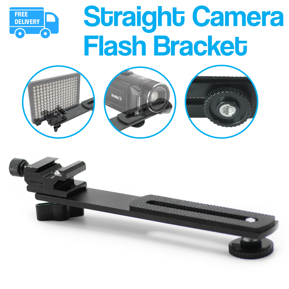 5Pack|6.3 Straight Flash Bracket 1//4-20 Screw Hot Shoe Mount for Camera Tripod