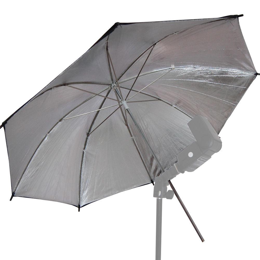 "US SELLER | 2x 33"" Black Silver Umbrella Photography Light Photo Studio Video 3"