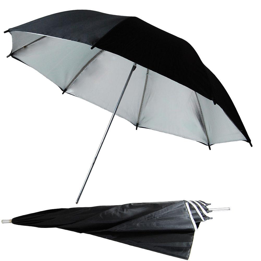 "US SELLER | 2x 33"" Black Silver Umbrella Photography Light Photo Studio Video 4"