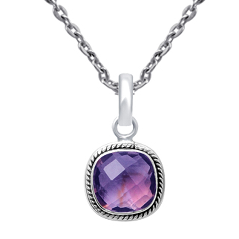 7-Ct-Cushion-Purple-Amethyst-925-Sterling-Silver-Solitaire-Jewelry-Pendant-23
