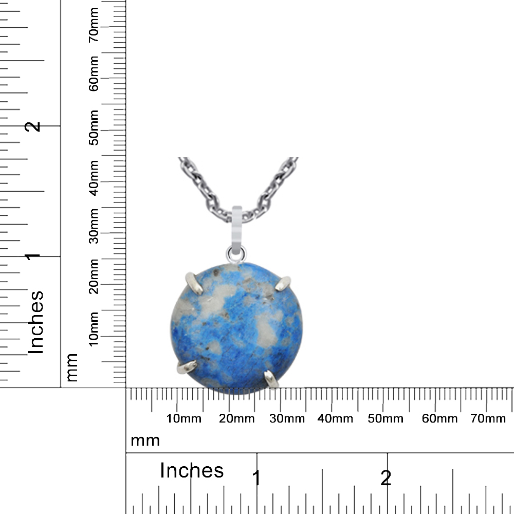 925-Sterling-Silver-30-Ct-Blue-Sodalite-Rare-Pendant-By-Orchid-jewelry thumbnail 4