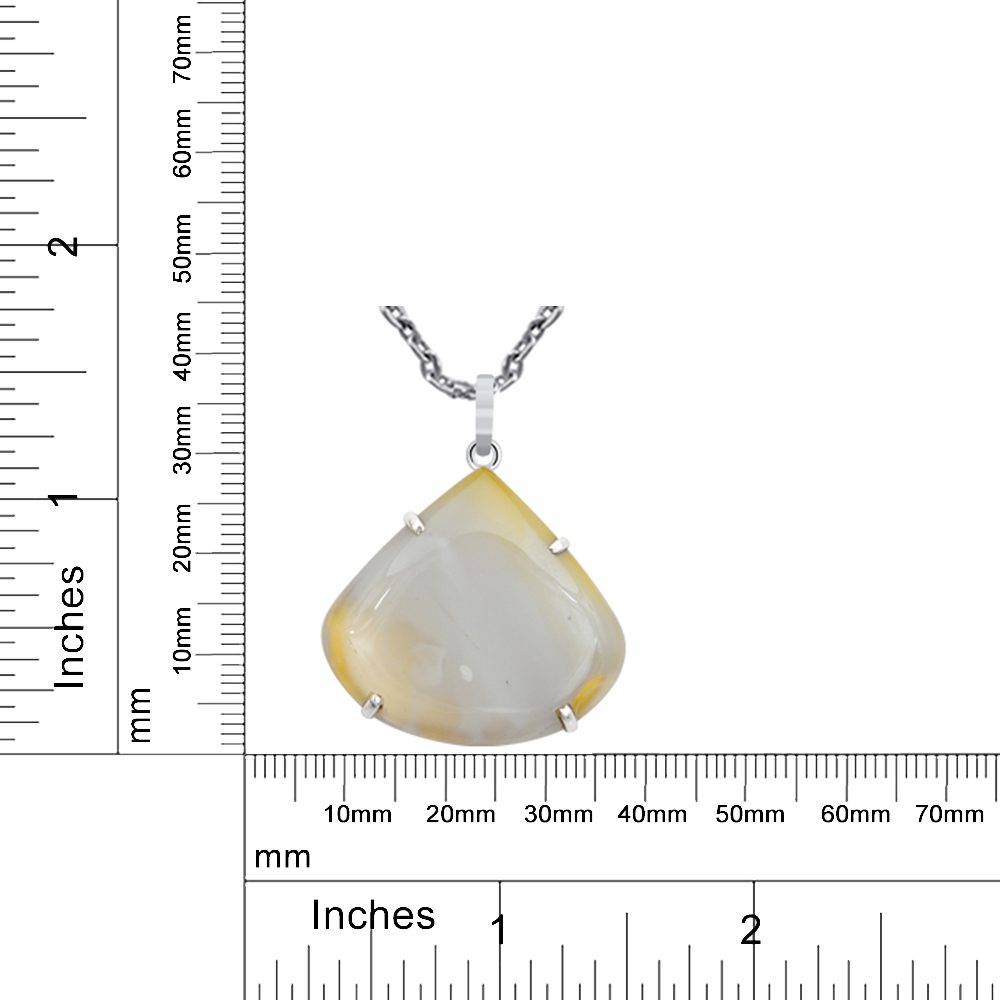 925-Sterling-Silver-80-Carat-Blue-Lace-Agate-Amazing-Pendant-By-Orchid-jewelry thumbnail 4