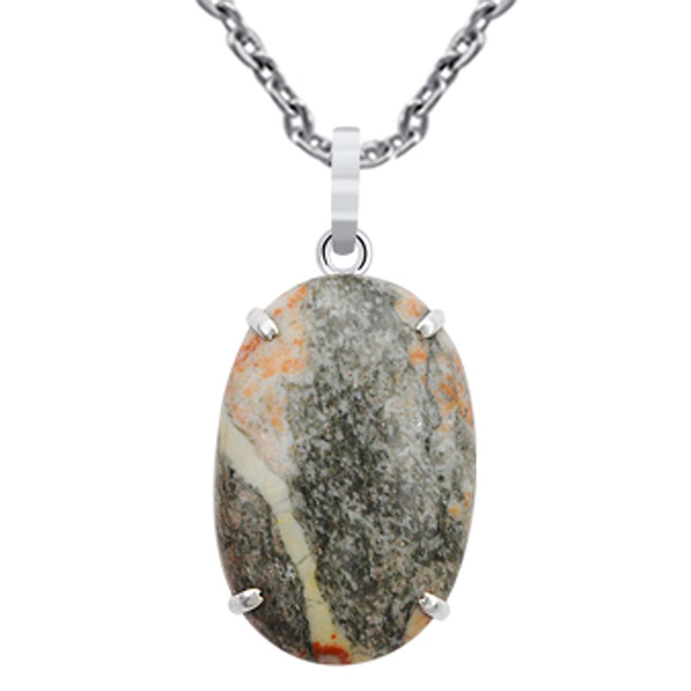 40-0-Ct-Oval-Cut-Ocean-Jasper-925-Sterling-Silver-Charm-Pendant-Gift-Jewelry-24