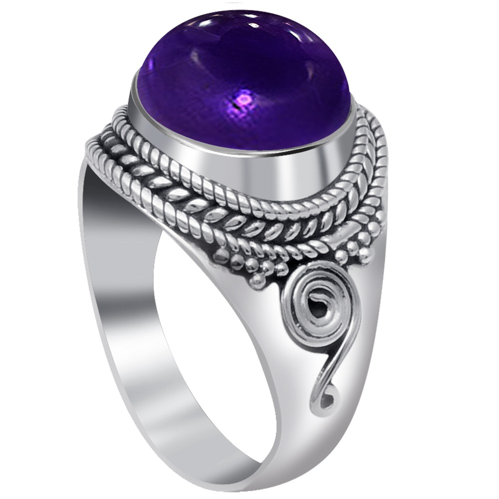 4-Ctw-Purple-Round-925-Sterling-Silver-Ring-OJR-15969A thumbnail 13