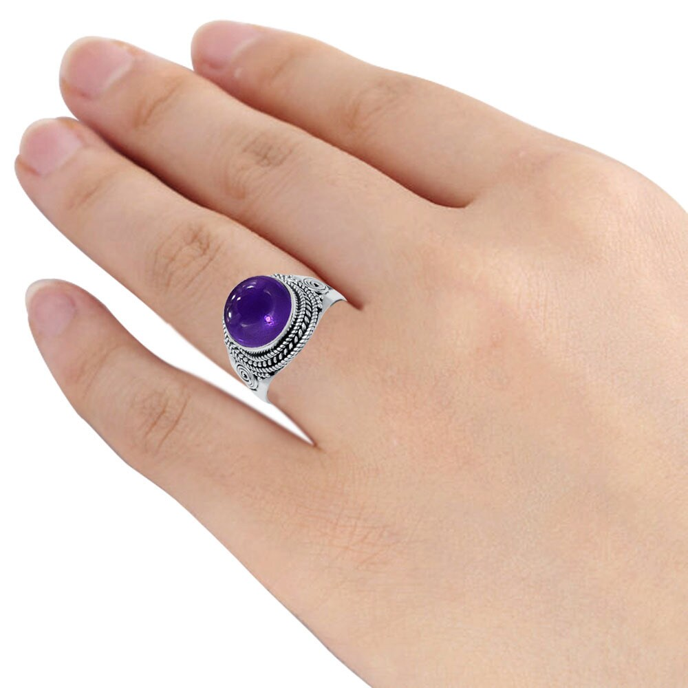 4-Ctw-Purple-Round-925-Sterling-Silver-Ring-OJR-15969A thumbnail 22